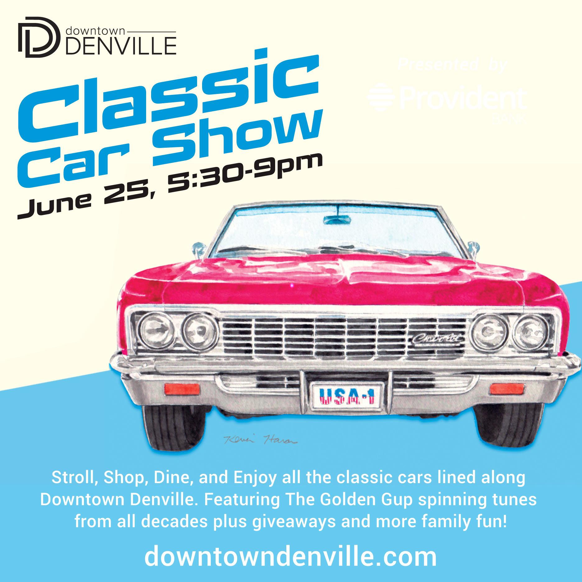 Classic Car Show 20/20   Downtown Denville